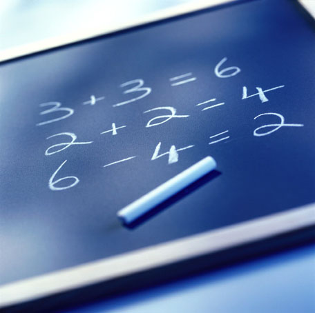Equations on a charkboard